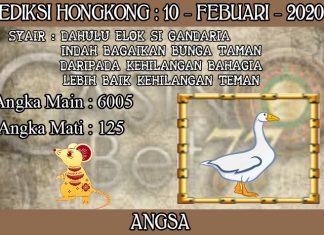 PREDIKSI TOGEL HONGKONG HARI SENIN 10 FEBRUARY 2020