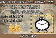 PREDIKSI TOGEL HONGKONG HARI RABU 12 FEBRUARY 2020
