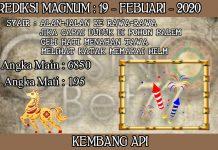 PREDIKSI TOGEL MAGNUM4D HARI RABU 19 FEBRUARY 2020