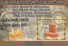 PREDIKSI TOGEL MAGNUM4D HARI SABTU 29 FEBRUARY 2020