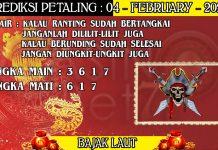 PREDIKSI TOGEL PETALING HARI SELASA 04 FEBRUARY 2020