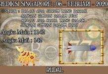 PREDIKSI TOGEL SINGAPORE HARI KAMIS 06 FEBRUARY 2020