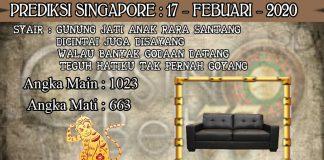 PREDIKSI TOGEL SINGAPORE HARI SENIN 17 FEBRUARY 2020