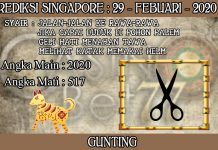 PREDIKSI TOGEL SINGAPORE HARI SABTU 29 FEBRUARY 2020