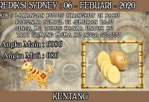PREDIKSI TOGEL SYDNEY HARI KAMIS 06 FEBRUARY 2020