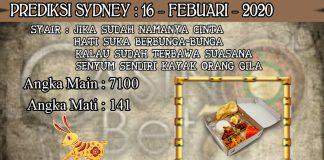 PREDIKSI TOGEL SYDNEY HARI MINGGU 16 FEBRUARY 2020