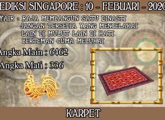 PREDIKSI TOGEL SINGAPORE HARI SENIN 10 FEBRUARY 2020