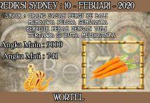 PREDIKSI TOGEL SYDNEY HARI SENIN 10 FEBRUARY 2020