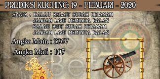 PREDIKSI TOGEL KUCHING HARI RABU 19 FEBRUARY 2020