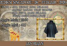 PREDIKSI TOGEL SINGAPORE HARI RABU 26 FEBRUARY 2020