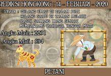 PREDIKSI TOGEL HONGKONG HARI JUMAT 14 FEBRUARY 2020
