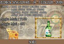 PREDIKSI TOGEL SINGAPORE HARI RABU 19 FEBRUARY 2020