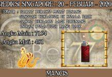 PREDIKSI TOGEL SINGAPORE HARI KAMIS 20 FEBRUARY 2020
