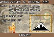 PREDIKSI TOGEL SYDNEY HARI JUMAT 14 FEBRUARY 2020