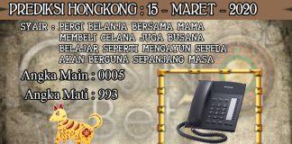 PREDIKSI TOGEL HONGKONG HARI MINGGU 15 MARET 2020