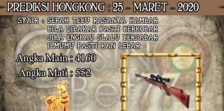 PREDIKSI TOGEL HONGKONG HARI RABU 25 MARET 2020