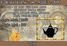 PREDIKSI TOGEL KUCHING HARI SENIN 09 MARET 2020
