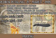 PREDIKSI TOGEL PETALING HARI SABTU 21 MARET 2020