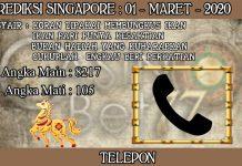 PREDIKSI TOGEL SINGAPORE HARI MINGGU 01 FEBRUARY 2020