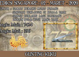 PREDIKSI TOGEL SINGAPORE HARI SENIN 02 MARET 2020