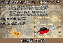 PREDIKSI TOGEL SINGAPORE HARI SABTU 07 MARET 2020