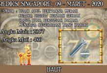 PREDIKSI TOGEL SINGAPORE HARI SENIN 09 MARET 2020