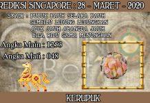 PREDIKSI TOGEL SINGAPORE HARI SABTU 28 MARET 2020