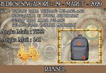 PREDIKSI TOGEL SINGAPORE HARI MINGGU 29 MARET 2020