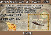 PREDIKSI TOGEL SINGAPORE HARI SENIN 30 MARET 2020