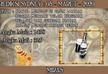 PREDIKSI TOGEL SYDNEY HARI KAMIS 05 MARET 2020
