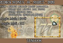 PREDIKSI TOGEL SYDNEY HARI SELASA 10 MARET 2020