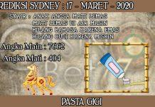 PREDIKSI TOGEL SYDNEY HARI SELASA 17 MARET 2020