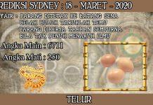 PREDIKSI TOGEL SYDNEY HARI RABU 18 MARET 2020