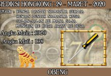 PREDIKSI TOGEL HONGKONG HARI MINGGU 29 MARET 2020