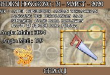 PREDIKSI TOGEL HONGKONG HARI SELASA 31 MARET 2020