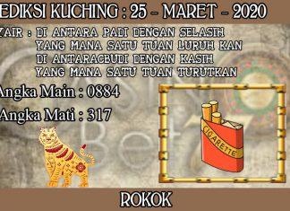 PREDIKSI TOGEL KUCHING HARI RABU 25 MARET 2020