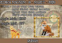 PREDIKSI TOGEL MAGNUM4D HARI RABU 18 MARET 2020