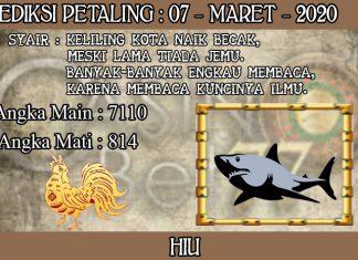 PREDIKSI TOGEL PETALING HARI SABTU 07 MARET 2020