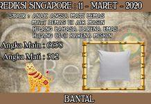PREDIKSI TOGEL SINGAPORE HARI RABU 11 MARET 2020