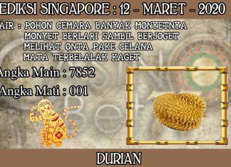 PREDIKSI TOGEL SINGAPORE HARI KAMIS 12 MARET 2020