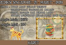 PREDIKSI TOGEL SINGAPORE HARI SABTU 21 MARET 2020