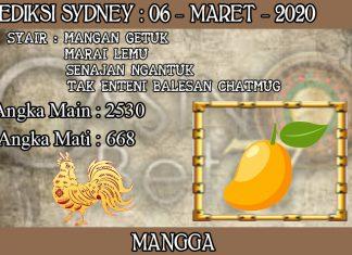 PREDIKSI TOGEL SYDNEY HARI JUMAT 06 MARET 2020