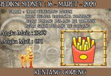 PREDIKSI TOGEL SYDNEY HARI SENIN 16 MARET 2020
