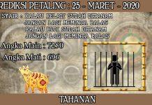 PREDIKSI TOGEL PETALING HARI RABU 25 MARET 2020