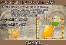 PREDIKSI TOGEL KUCHING HARI JUMAT 03 APRIL 2020