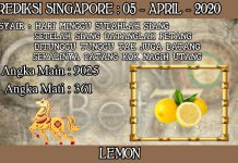 PREDIKSI TOGEL SINGAPORE HARI MINGGU 05 APRIL 2020
