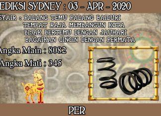 PREDIKSI TOGEL SYDNEY HARI JUMAT 03 APRIL 2020