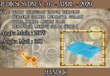 PREDIKSI TOGEL SYDNEY HARI SELASA 07 APRIL 2020