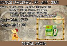 PREDIKSI TOGEL HONGKONG HARI JUMAT 04 APRIL 2020