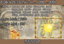 PREDIKSI TOGEL PETALING HARI RABU 01 APRIL 2020